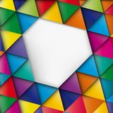 Abstract geometric mosaic background made. Of colorful triangles, vector design pattern texture vector illustration