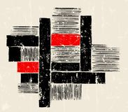 Abstract geometric art in the bauhaus tradition, with strokes, s Vector Illustration