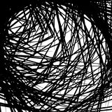 Abstract geometric art image. Monochrome, black and white backgr Stock Image