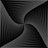 Abstract geometric art image. Monochrome, black and white Stock Images