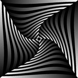 Abstract geometric art image. Monochrome, black and white Stock Image
