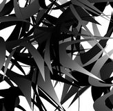 Abstract geometric art with random, scattered shapes Royalty Free Stock Image