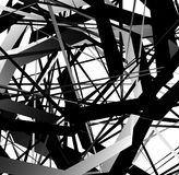 Abstract geometric art with random, scattered shapes Stock Photography