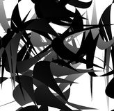 Abstract geometric art with random, scattered shapes Royalty Free Stock Images
