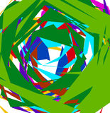 Abstract geometric art with random, unsettled edgy shapes Stock Images