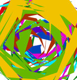 Abstract geometric art with random, unsettled edgy shapes Stock Photography