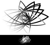 Abstract geometric, artistic element with random overlapping sha Royalty Free Stock Photography