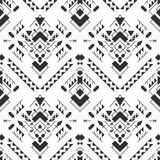 Abstract geometric aztec seamless pattern. S. Mexican tribal ethnic design. Indian traditional ornament. Collection of elements for decoration, card, tattoo Stock Illustration