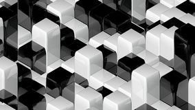 Abstract geometric back and white cubes, optical Illusion, computer generated 3D rendering backdrop. Abstract geometric back and white cubes, optical Illusion stock illustration