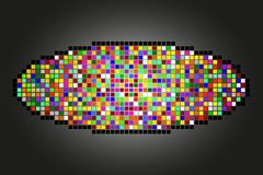 Abstract geometric background. Made of various color squares stock illustration