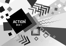 Abstract geometric background. Action. Stock Photos