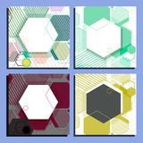 Abstract geometric background and banner of hexagons vector eps10.  Stock Photos