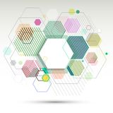 Abstract geometric background and banner of hexagons vector eps10.  Royalty Free Stock Image