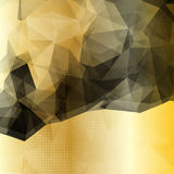 Abstract geometric background with black polygons Stock Image