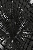 Abstract geometric background with black tunnel Stock Photography