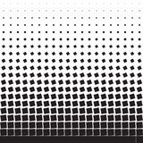 Abstract geometric background of black turning squares. Halftone Stock Photography
