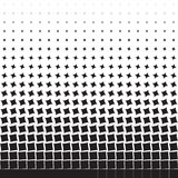 Abstract geometric background of black turning squares, rhombuses Stock Photo