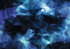Abstract geometric background. Abstract blue dark geometric background Stock Photo