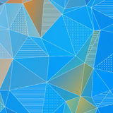 Abstract geometric background with blue triangles Stock Image