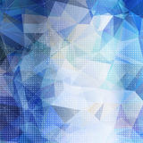 Abstract geometric background with blue triangles Royalty Free Stock Photos