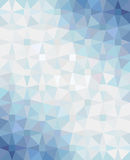 Abstract geometric background with blue-white-blue gradient. Vector illustration. Royalty Free Stock Images