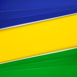 Abstract geometric background with Brazil flag Stock Photography