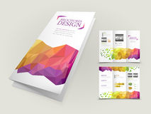 Abstract geometric background brochure design Royalty Free Stock Image