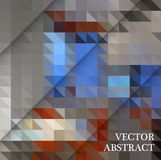 Abstract geometric background from brown and gray triangles, with sample text. Vector design Royalty Free Stock Photos