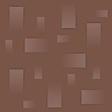 Abstract geometric background, brown squares on brown background Royalty Free Stock Photo