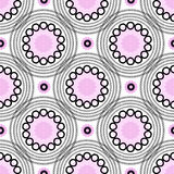 Abstract geometric background. Circles pink seamless pattern Royalty Free Stock Image