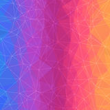 Abstract Geometric Background with Color Triangles Grid. Stock Image