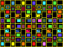The abstract geometric background of colored squares. An abstract geometric background of colored squares Vector Illustration