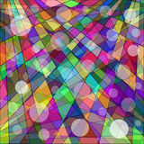 Abstract geometric background of colored wallpaper Stock Image