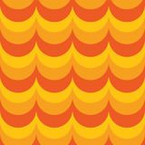 Abstract geometric background. colorful circles. Yellow and orange color background Royalty Free Illustration
