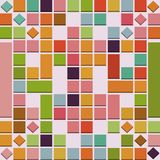 Abstract 3D colorful squares background in pink, red, green and yellow Royalty Free Stock Photo
