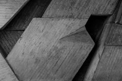 Abstract geometric background of the concrete close up Stock Photo