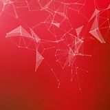 Abstract geometric background. Connecting dots Royalty Free Stock Photos