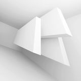 Abstract Geometric Background. 3d Illustration of White Abstract Geometric Background Stock Photography