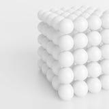 Abstract Geometric Background. 3d Illustration of White Cube. Abstract Geometric Background royalty free illustration