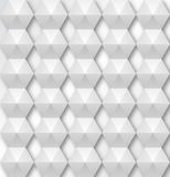 Abstract geometric background. Abstract 3d white geometric background. White seamless texture with shadow. Simple clean white background texture. 3D Vector Stock Images