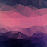 Abstract geometric background. Dark blue and pink abstract square geometric background consisting of colored triangles stock illustration