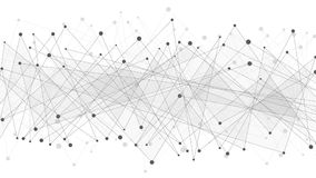 Abstract geometric background. Dark gray connected triangles on a white background. Plexus web. Big data. Modern polygonal design.