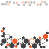 Abstract geometric background with dark gray and orange hexagons. Vector illustration royalty free illustration