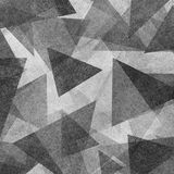 Abstract geometric background design with black and white triangle shapes layered in modern abstract pattern with texture stock illustration