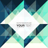 Abstract geometric background design with place for your text. Vector stock eps 10 illustration Vector Illustration