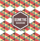 Abstract geometric background for design. Retro pattern Royalty Free Stock Image