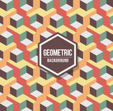 Abstract geometric background for design. Retro pattern Stock Images
