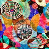 Abstract geometric background with different elements royalty free stock photos