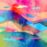 Abstract geometric background with different elements stock photos