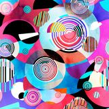 Abstract geometric background with different elements stock photo